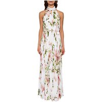 Ted Baker Harmony Pleated Maxi Dress, White