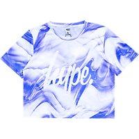 Hype Girls' Cropped T-Shirt, Purple