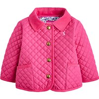 Baby Joule Mabel Quilted Jacket, Pink