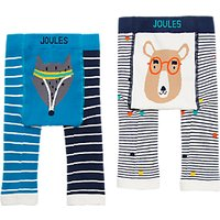 Baby Joule Lively Legs Bear And Fox Leggings, Pack Of 2, Multi