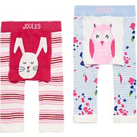 Baby Joule Lively Legs Bunny And Owl Leggings, Pack Of 2, Pink/multi