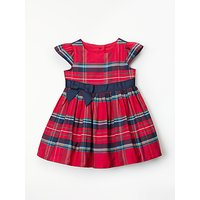 John Lewis & Partners Baby Party Check Dress, Red