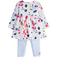 Baby Joule Floral Stripe Dress Set, Blue/multi