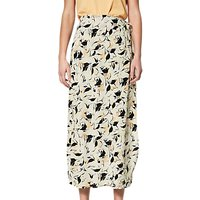 Selected Femme Flori Print Wrap Ankle Skirt, Sand Dollar