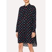 PS Paul Smith Scribble Spot Print Shirt Dress, Black