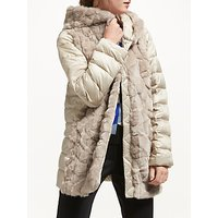 Marella Sport Faux Fur Quilted Coat, Beige