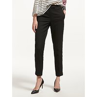 Marella Velvet Side Stripe Trousers, Black