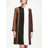 Marella Vertical Stripe Dress, Rust