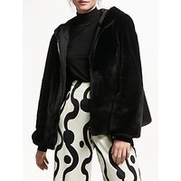 Marella Zac Sport Faux Fur Reversible Coat, Black