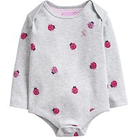 Baby Joule Snazzy Ladybird Bodysuit, Grey