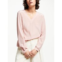 Weekend MaxMara Aguzzo Silk Neck Tie Blouse, Pink