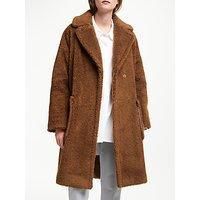 Weekend MaxMara Reale Faux Fur Teddy Coat, Caramel