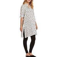 Isabella Oliver Freida Polka Dot Maternity Shirt Dress, White