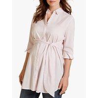 Isabella Oliver Dora Striped Maternity Shirt, Pink