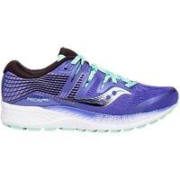 Saucony Ride ISO Women's Running Shoes, Violet/Black/Aqua