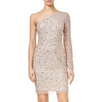 Adrianna Papell Asymmetric Sequin Dress, Champagne