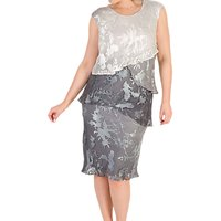 Chesca Devoree Dress, Grey