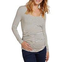 Isabella Oliver Jamie Ruched Stripe Top, White/black
