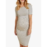 Isabella Oliver Jamie Striped Maternity Dress, Wine/white