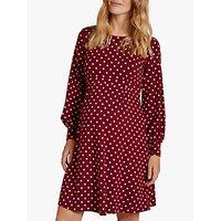 Isabella Oliver Lydia Polka Dot Bell Sleeve Maternity Dress, Wine