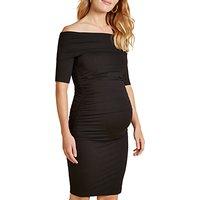 Isabella Oliver Ruched Clifton Bardot Dress, Black