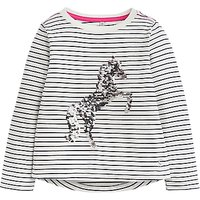 Little Joule Girls' Ava Unicorn T-Shirt, Navy