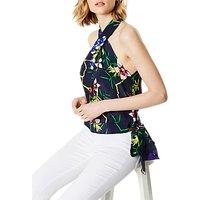 Karen Millen Fresh Floral Silk Top, Multi