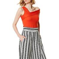 Karen Millen Asymmetric Off Shoulder Top, Orange