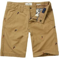 Fat Face Boys Ellis Surf Embroidered Shorts, Stone