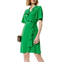 Karen Millen Silk Wrap Dress, Green