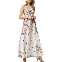 Phase Eight Collection 8 Anastacia Embroidered Floral Maxi Dress, Ivory/Multi