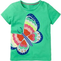 Mini Boden Girls' Wild Applique T-Shirt, Green
