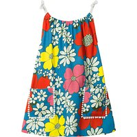 Mini Boden Girls' Flower Tunic Dress, Blue