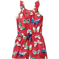 Mini Boden Girls' Printed Playsuit, Red