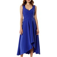 Karen Millen Fluid Wrap Dress, Blue