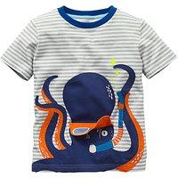 Mini Boden Boys' Novelty Summer T-Shirt, Grey