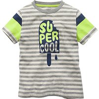Mini Boden Boys' Word Up Graphic T-Shirt, Grey