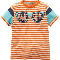 Mini Boden Boys' Word Up Graphic T-Shirt, Orange
