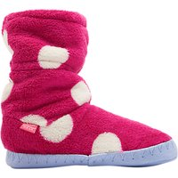 Baby Joule Padabout Ankle Slippers, Raspberry Rose