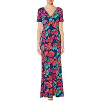 Gina Bacconi Posy Floral Dress, Crimson/Multi