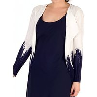Chesca Crush Pleated Shrug, Ivory/Navy