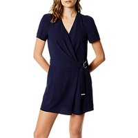 Karen Millen Wrapped and Draped Playsuit, Navy