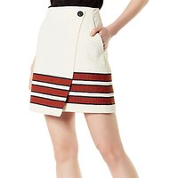 Karen Millen Striped Hem Skirt, Multi