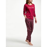 Calvin Klein Logo Pyjama Set, Red/multi