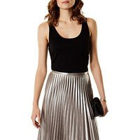 Karen Millen Hardware Strappy Jersey Top, Black