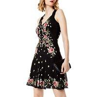 Karen Millen Colourful Flowers Dress, Black