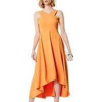 Karen Millen Flared Midi Dress, Orange