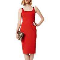 Karen Millen Elastic Strap Dress, Orange/Multi