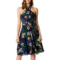 Karen Millen Fresh Floral Silk Dress, Multi