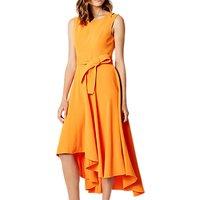 Karen Millen Fluid Midi Drape Dress, Orange